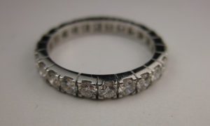 platinum diamond engagement eternity ring