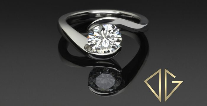 round brilliant cut diamond platinum engagement ring
