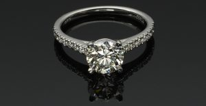 brilliant round diamond engagement ring